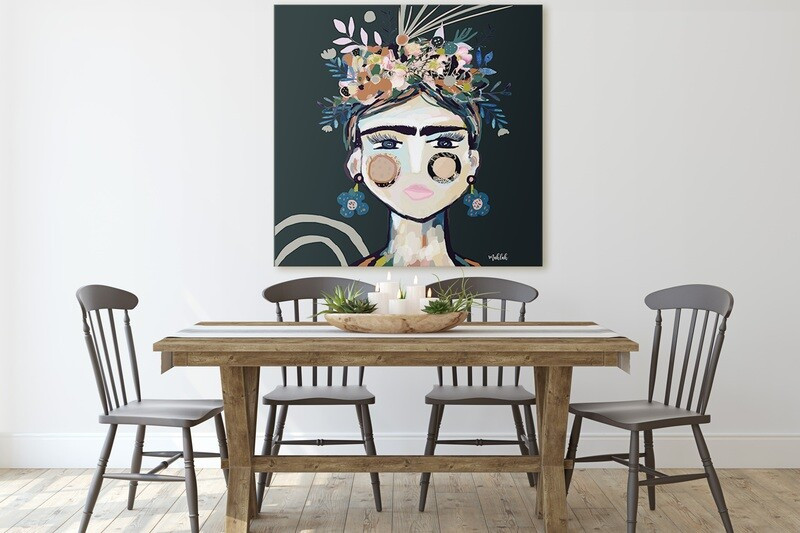 125cm x 125cm Frida Canvas Print