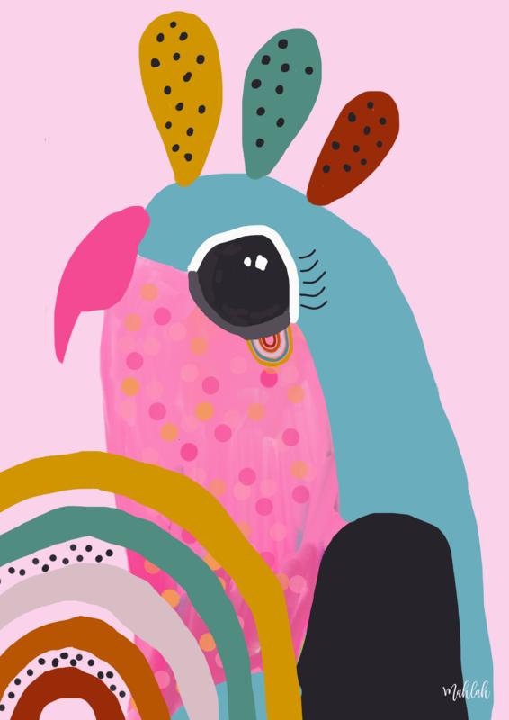 Birdy ( Pink) Print