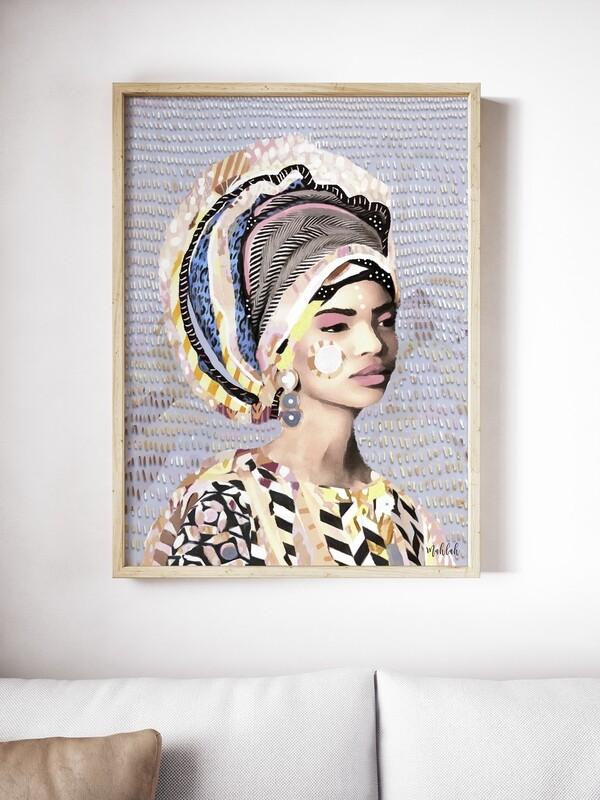 Lady Lines  Print