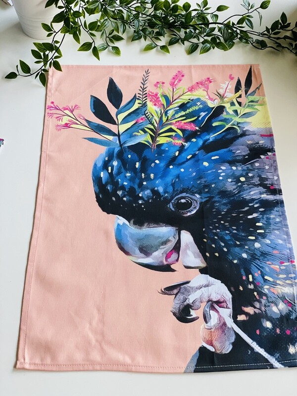 Tea Towel ( Cockatoo) (Re Stock November)