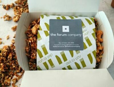 Hand crafted forum granola