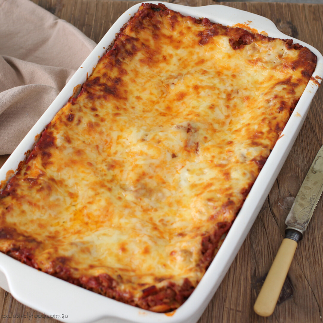 The classic forum beef lasagne for two