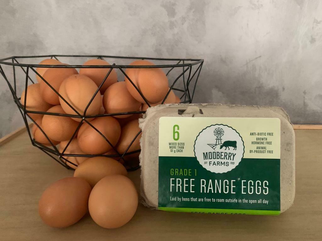 Mooberry Free Range Eggs - 1 dozen