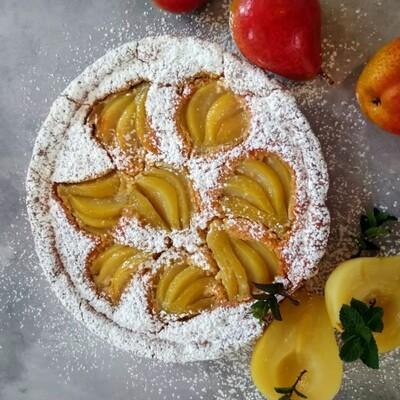 Pear and frangipane tart - 6-8 slices  [23cm round)