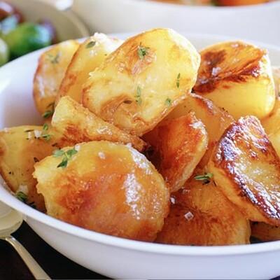 Rustic broken potatoes