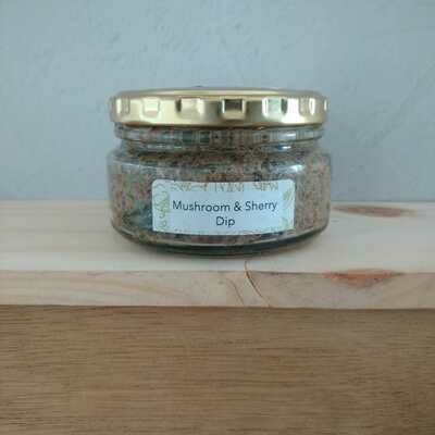 Mushroom and sherry pate in a glass jar