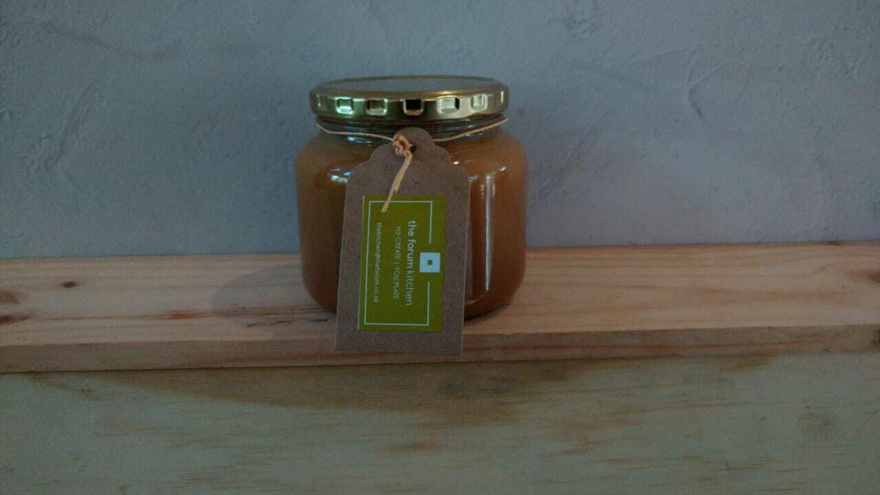 our signature salted caramel sauce