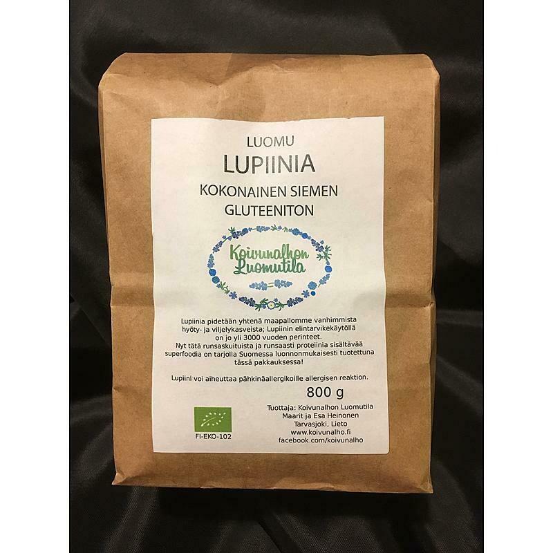 Kokonainen lupiinin siemen, Gluteeniton 800 g