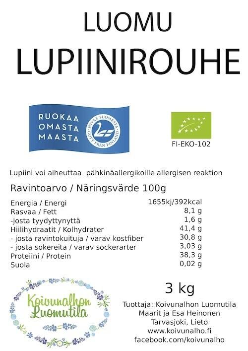 Lupiinirouhe 3 kg