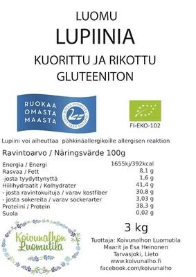 Lupiini kuorittu & rikottu, Gluteeniton 3 kg