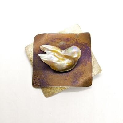 Brosza srebrna z perłą