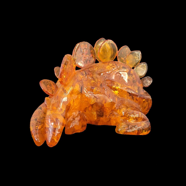Dinozaur z bursztynu bałtyckiego