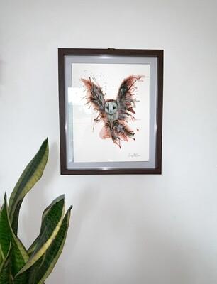 Airbrush Owl Print