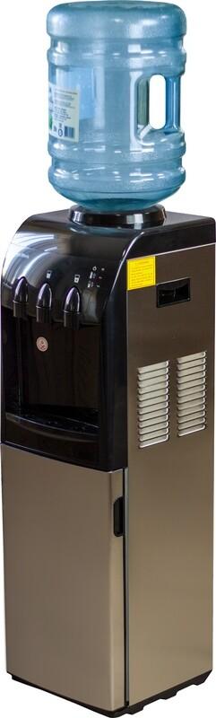 Водораздатчик-диспенсер Aqua Work MYL 833S-W напольный, компрессор, нерж.сталь, шкаф 20л, три крана
