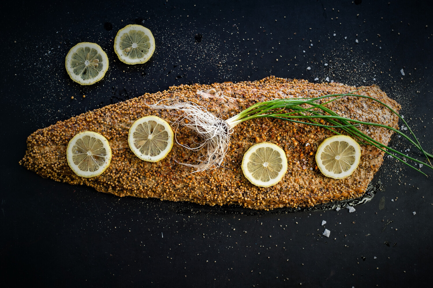 Hot Smoked & peppered Norwegian Salmon (+/- 1.3kg A Side) Price Is Per Kg