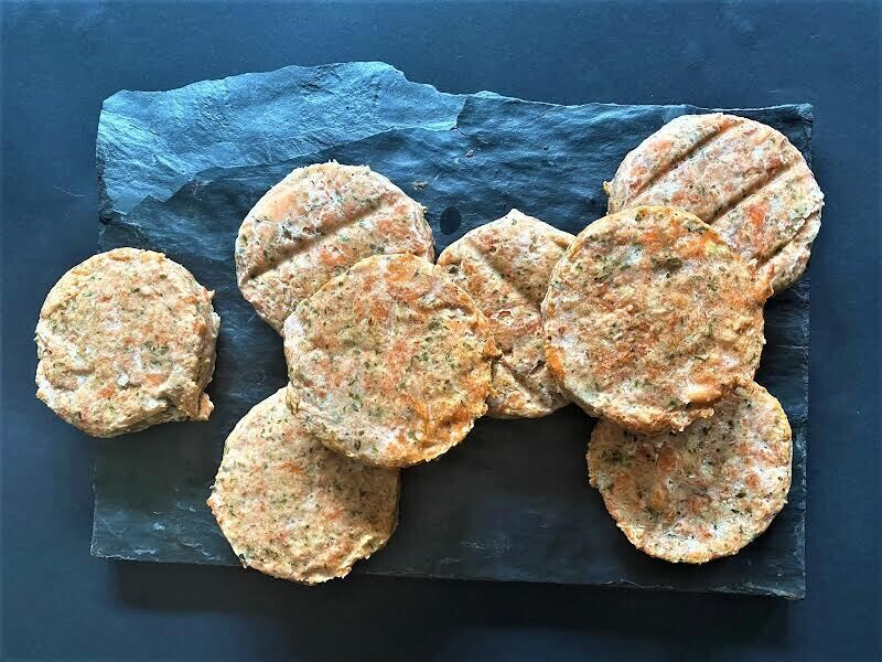 Hot Smoked Trout Burgers