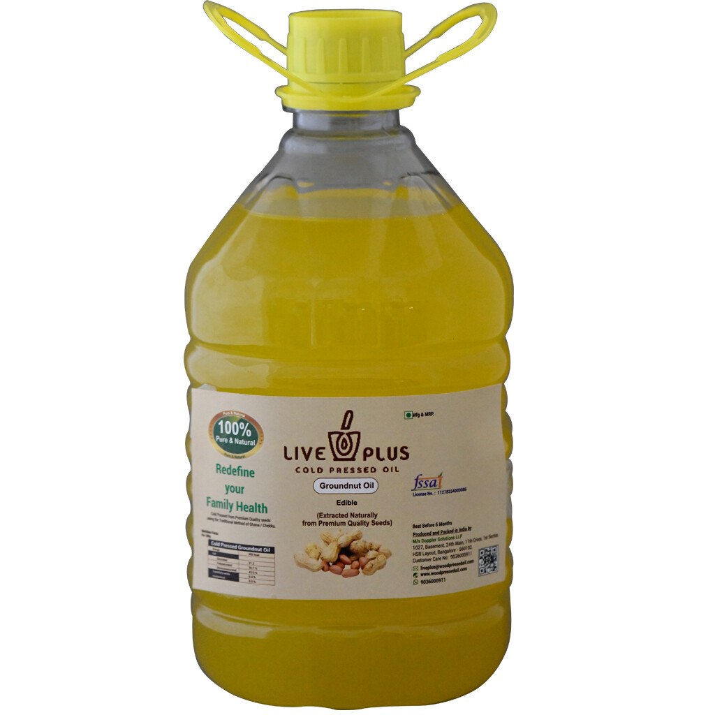 Groundnut Oil 3000 ml (Cold Pressed)