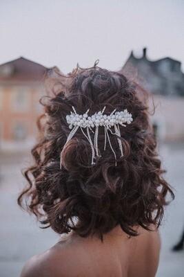 Bridal pearl hair comb KATE