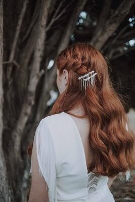 SUSAN pearl and chain hair clips
