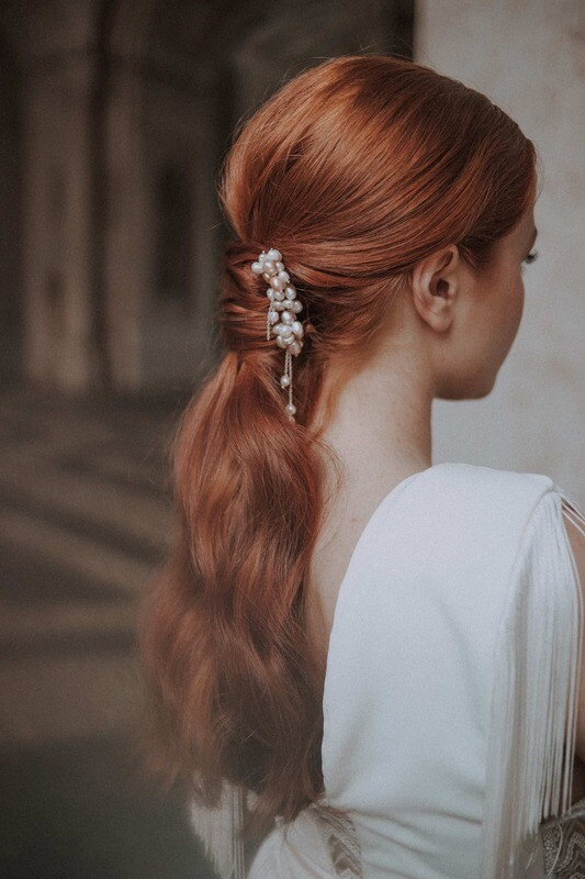 LILLY bridal pearl hair pins