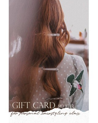 GIFT CARD personal hairstyling class: how to style your own hair?