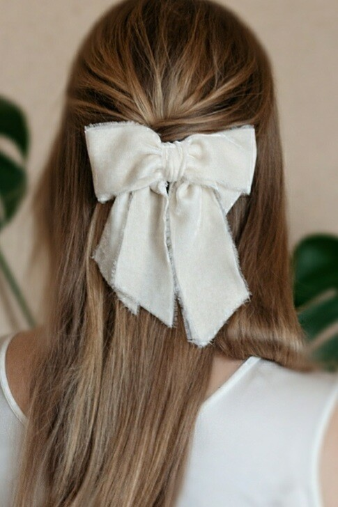 Silk velvet hair bow JANE