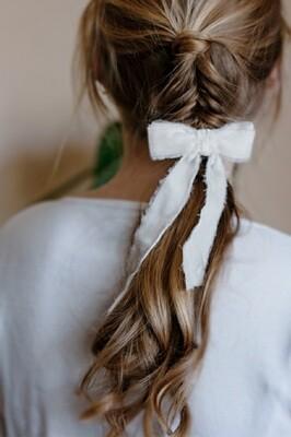 Silk velvet hair bow JANE MINI