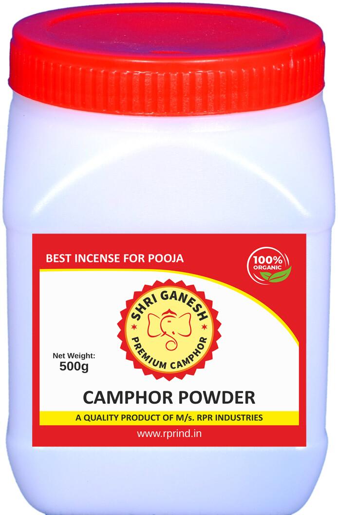 Shri Ganesh Premium Camphor Powder - 500g