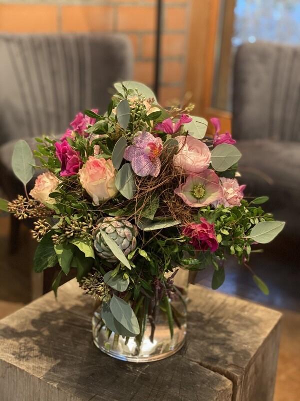Blumenstrauss von Rosa bis Pink