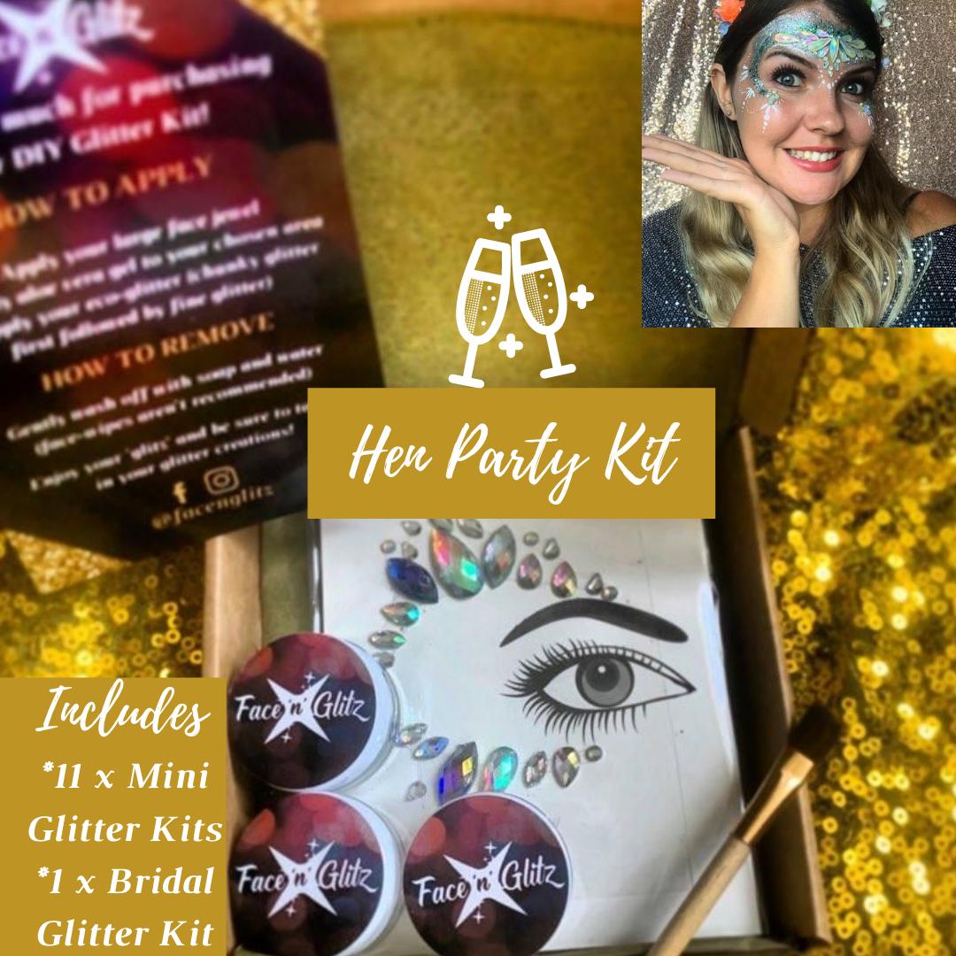 Hen Party Kit (total of 12 DIY Glitter Kits)