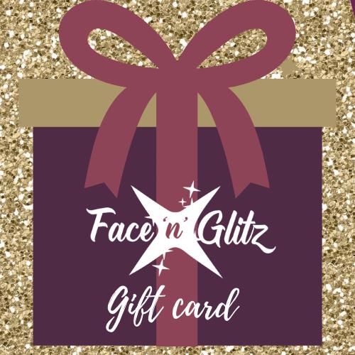 Face 'n' Glitz Gift Card