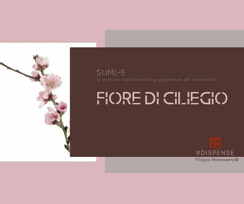 13 e 14 MARZO  Sumi-e Experience Workshop: fiore di ciliegio