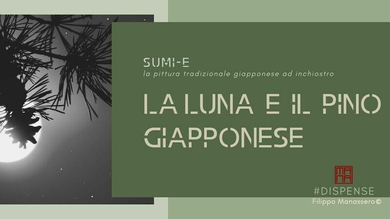 #Manuale di Sumi-e: la luna e il pino giapponese