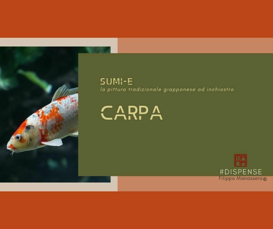 24 e 25 APRILE Sumi-e Experience On-line: Carpa