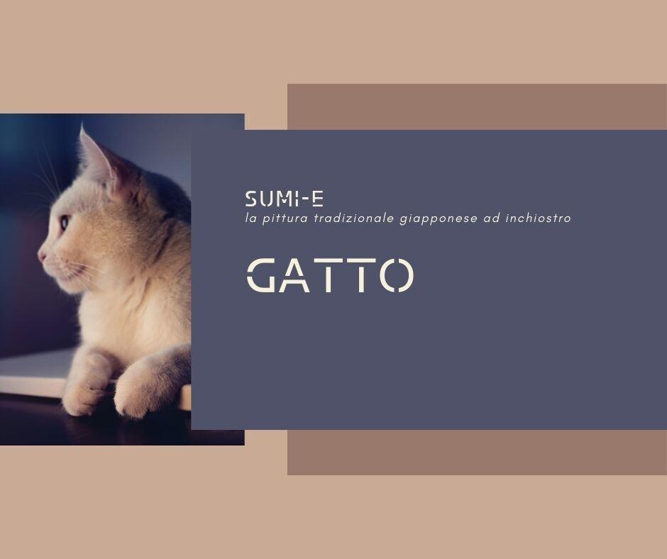 28 e 30 GIUGNO  Sumi-e Experience On-line: gatto