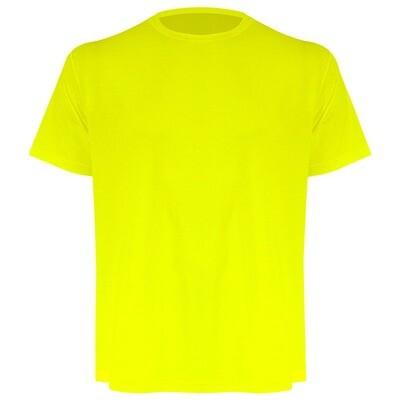 Camiseta masculina amarelo fluor
