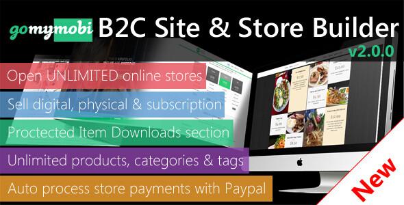 gomymobiBSB: Business Website & Online Store Builder