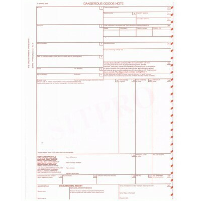 Dangerous Goods Note (Road and Sea) Online template - unlimited prints (Annual Plan)