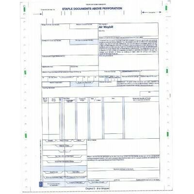 Neutral (IATA) Air Waybill Continuous NCR 6+6 - Pack of 200