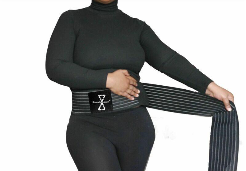 Securely Cinched Shapewear Waist Tummy Control for Women Men - Hide Belly Fupa Fat-Waist Cincher -Waist Trimmer