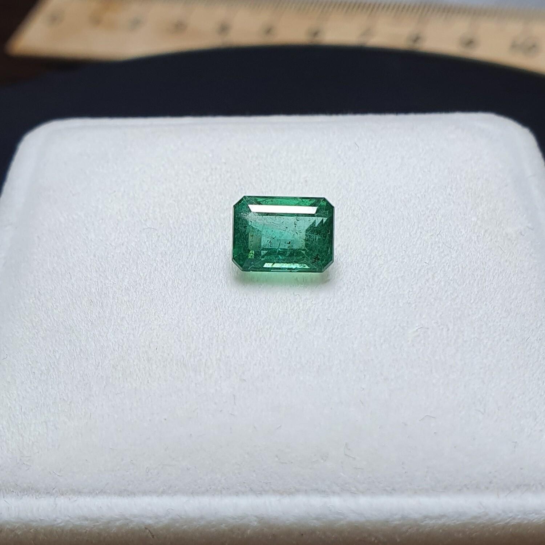 Emerald octagon cut 1.90 ct