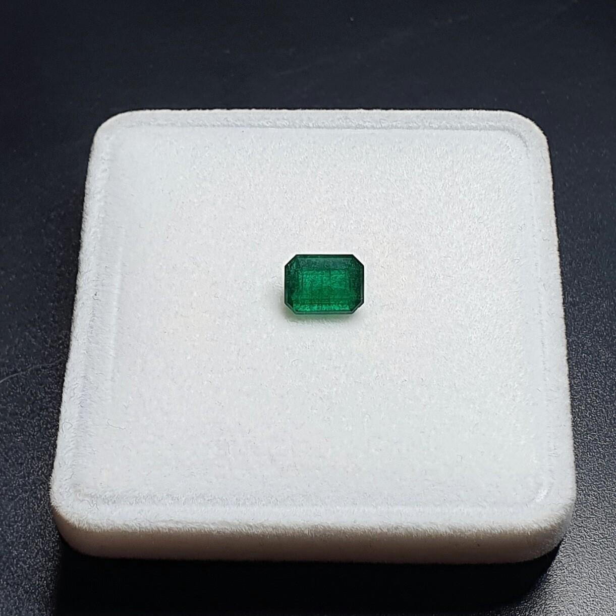 Emerald octagon cut 1.84 ct