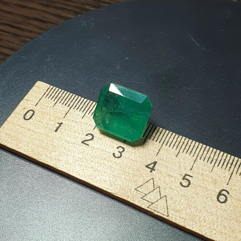 Emerald octagon cut 15.60 ct