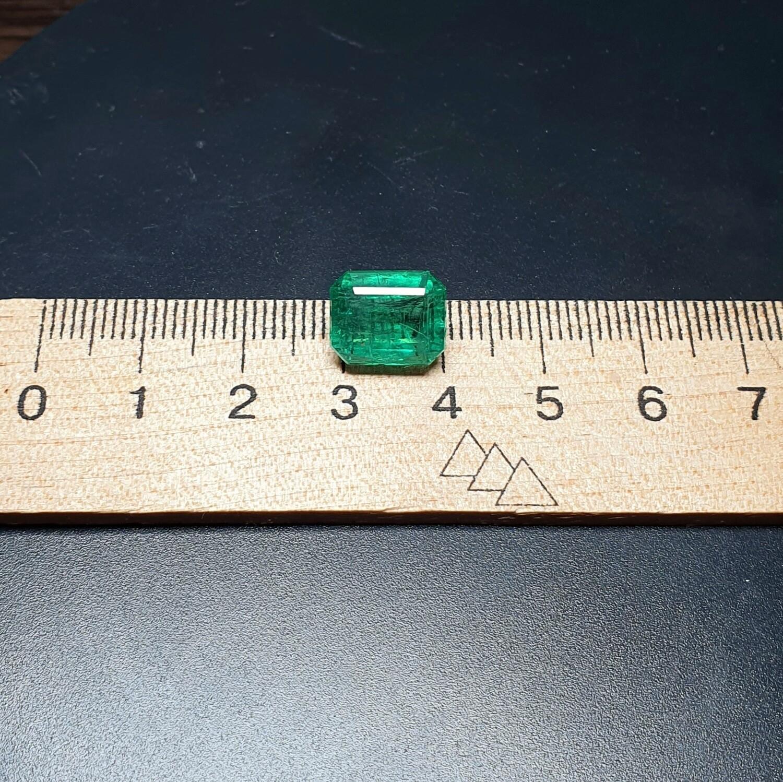 Emerald octagon cut 5.87 ct