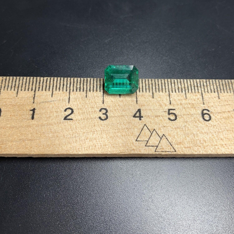 Emerald octagon cut 3.73 ct