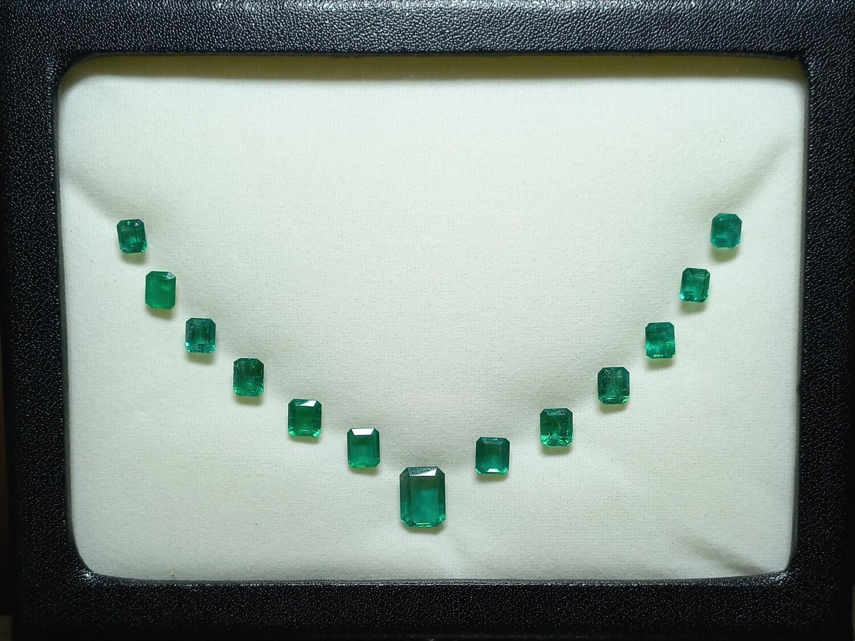 Emeralds lot 23.66 ct