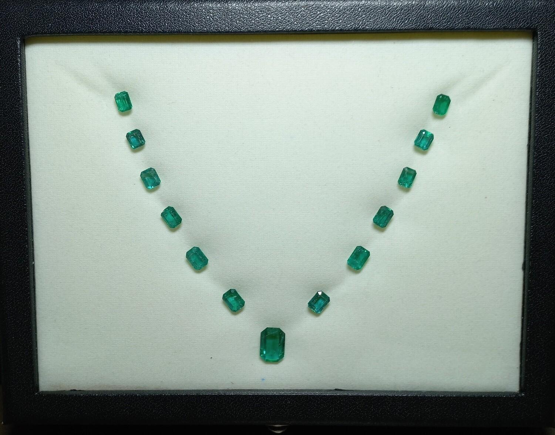 Emeralds lot 18.15 ct