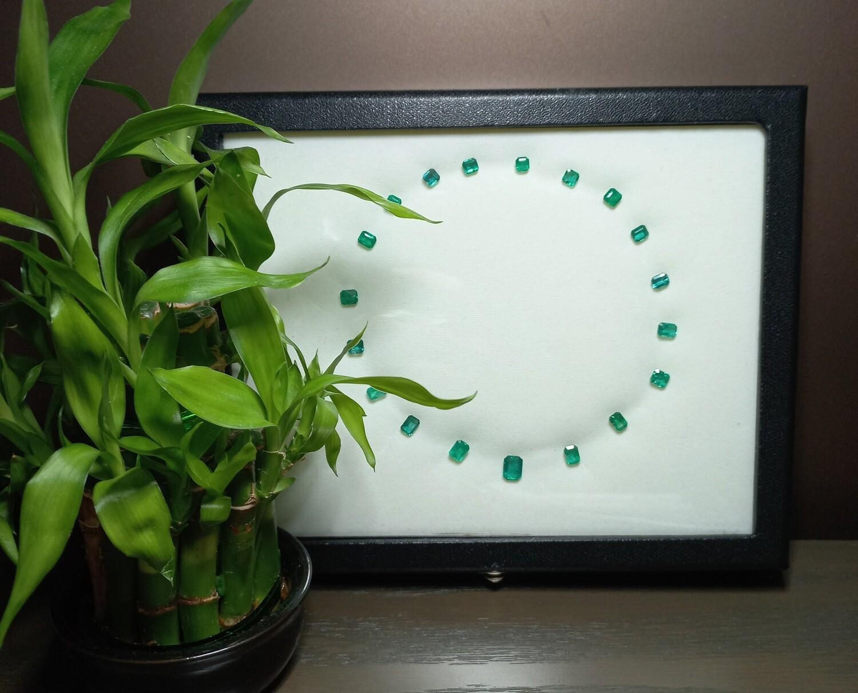 Emeralds lot 9.51 ct