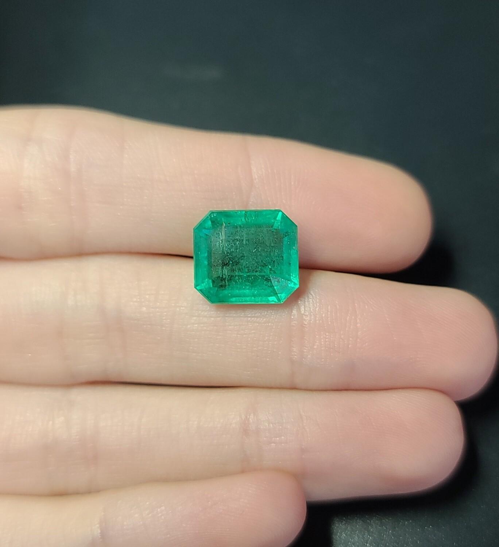 Emerald octagon cut 7.63 ct