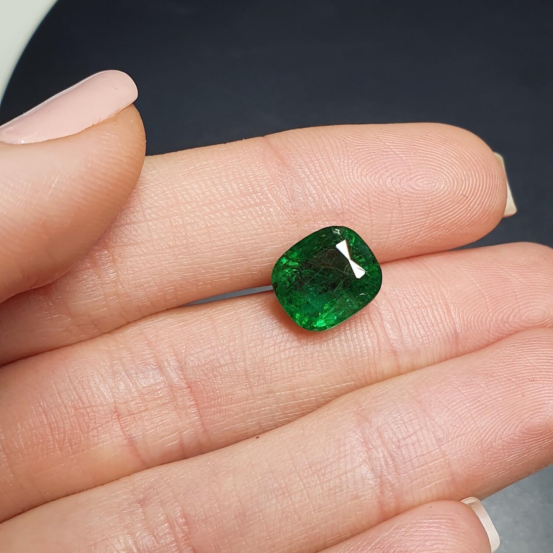 Emerald Cushion cut 4.42 ct